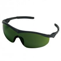 MCR Safety ST1 Series Safety Glasses, Black Frame, Green Filter 3.0 Lens