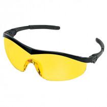 MCR Safety ST1 Series Safety Glasses, Black Frame, Amber Lens