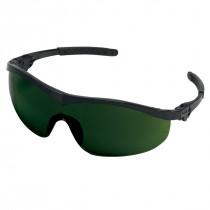 MCR Safety ST1 Series Safety Glasses, Black Frame, Green Filter 5.0 Lens