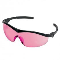 MCR Safety ST1 Series Safety Glasses, Black Frame, Vermillion Lens