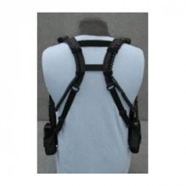 Caldwell 300D Double Radio Universal Shoulder Holster -  5 to 8-1/2 in H x 2-1/2 in W -  3 Pockets