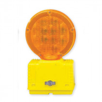 Cortina® 03-10-3WAY6V Barricade Light -  7 in Head -  6 V With Photocell Power Source -  Yellow/Amber -  Fresnel Lens