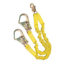 3M™ DBI-SALA® Fall Protection ShockWave™ 2 Elastic Shock Absorbing Lanyard - 6 ft L - 2 Legs - Rebar Hook Connection - Yellow