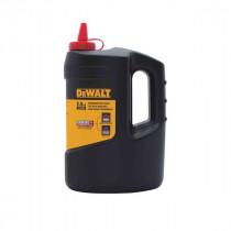 DeWALT® Permanent Marking Chalk Refill, Red, 2.5 lb Bottle