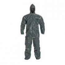 DuPont® QC127BYL4X001200 Chemical Resistant Coverall 12 per CS -  4XL -  50-3/4 - 54-1/4 Chest -  32 in Inseam -  Yellow -  Tychem® QC