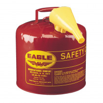 Eagle Manufacturing UI-50-FS Type I Safety Can With F-15 Funnel -  5 gal -  12-1/2 in Dia x 13-1/2 in H -  Galvanized Steel