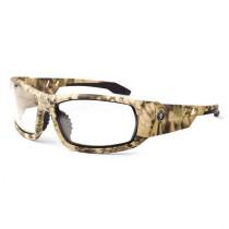 Skullerz® Odin Safety Glasses/Sunglasses, Kryptek Highlander Frame, Anti-Fog Clear Lens Color
