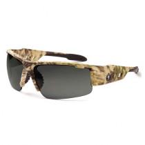 Skullerz® Dagr Safety Glasses/Sunglasses, Kryptek Highlander Frame, Polarized Smoke Lens Color