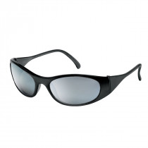 MCR Safety F2 Series Safety Glasses, Frost Black Frame, Silver Mirror Lens
