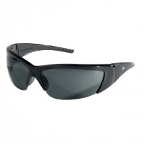 ForceFlex® FF2 Series Safety Glasses, Black Frame, Gray Lens Color