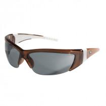 ForceFlex® FF2 Series Safety Glasses, Crystal Brown Frame, Gray Lens Color