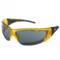 ForceFlex® FF2 Series Safety Glasses, Crystal Yellow Frame, Gray Lens Color