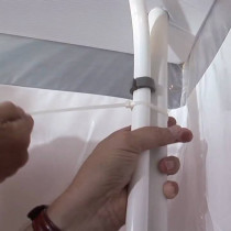 Grayling™ Pole Set, 2-Piece Disposable, For Use with D-Con Showers