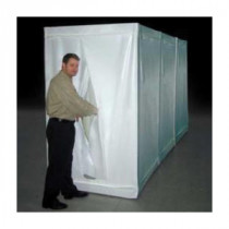 Grayling™ 1001008 Flame Retardant Decontamination Shower -  Clean -  Shower -  Equipment Room -  48 in L x 48 in W x 81 in H