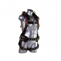 Guardian Fall Protection 11171 Construction Harness -  XL/2XL -  130 - 420 lb -  Nylon/Polyester Strap