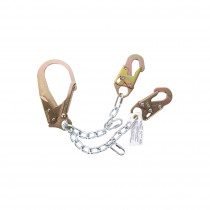 Guardian Fall Protection 1610 Work Positioning Lanyard -  130 - 310 lb Load -  24 in L -  Rebar Hook Connection