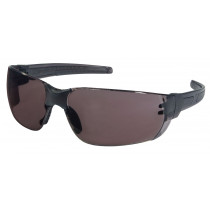 MCR Safety HK2 Series Safety Glasses, Black Temple, Gray MAX6® Anti-Fog Lens