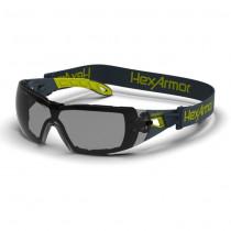 HexArmor MX200G Anti-Fog, Scratch-Resistant Safety Glasses, Grey Lens Color