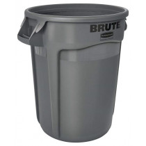 Rubbermaid RCP263200GY Round Brute Container, 32 Gal, Gray