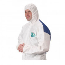 Lakeland® COL428-2X Disposable Coverall 25 per CASE -  2XL -  52 - 54 in Chest -  29 in Inseam -  White -  MicroMax® NS Cool Suit