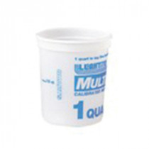 Leaktite™ 2M3 Multi-Mix Container -  1 qt -  4-1/8 in W x 5-1/4 in D -  High Density Polyethylene -  Clear