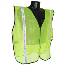 "MAX™ by ABATIX™ (SVG1) Safety Vest, Non-Rated, 1"" Stripe, Hook and Loop Closure"