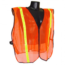 "MAX™ by ABATIX™ (SVO1) Safety Vest, Non-Rated, 1"" Stripe, Hook and Loop Closure"