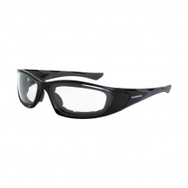 CrossFire® MP7 Foam Lined Safety Eyewear, Crystal Black Frame, Clear AF Lens