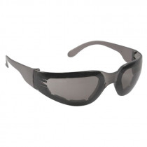Radians® Mirage™ Foam Safety Glasses, Smoke Frame, Smoke Anti-Fog Lens