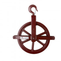 Murphy Industrial MUR171100 Hoisting Block/Gin Wheel With Forged Hooks and Safety Latch -  7/8 in