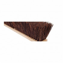 Magnolia Brush NO 14 Garage Broom Without Handle -  16 in OAL -  4 in Trim -  Brown Palmyra Bristle