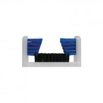Magnolia Brush Boot and Shoe Brush -  Black/Blue Polypropylene Bristle