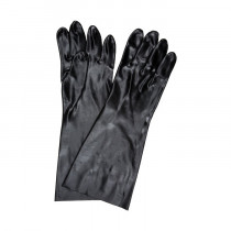 Memphis 6218 Industrial Grade Single Dipped Supported Coated Gloves -  L -  PVC Palm -  Black/White -  PVC