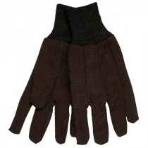 Memphis 7100 Jersey Gloves -  L -  Brown -  Clute Pattern -  Standard Finger -  Straight Thumb -  8 oz Jersey