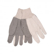 Memphis 8808 Regular Weight Canvas Gloves -  L -  Natural -  Clute Pattern -  Standard Finger -  Straight Thumb