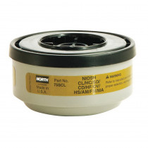 North® by Honeywell 75SCL Low Profile Respirator Cartridge 2 per PK -  For Use With 5400 -  5500 -  7600 and 7700 Series Respirator