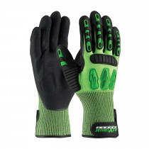 PIP® Maximum Safety® 120-5130/XL High Performance Oil and Gas Gloves -  XL -  Black/Green -  Extended Wrist -  HPPE/Nitrile