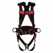 Protecta® Construction Style Positioning Harness, Black/Red