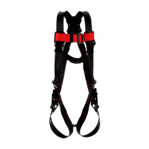 Protecta® Standard Vest-Style Harness, Black/Red