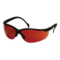 Pyramex® Venture II® Safety Glasses, Black Frame, Sunblock Bronze Lens