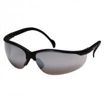 Pyramex® Venture II® Safety Glasses, Black Frame, Silver Mirror Lens