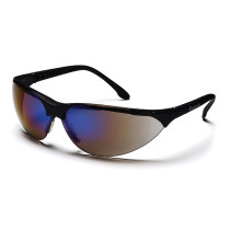 Pyramex® Rendezvous® Safety Glasses, Black Frame, Blue Mirror Lens