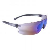 Radians® Rad-Sequel™ Safety Glasses, Smoke Frame, Blue Mirror Lens