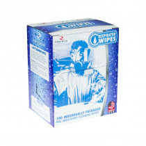 Radians® (RW-100) Pre Moistened Respirator Cleaning Wipes w/Alcohol