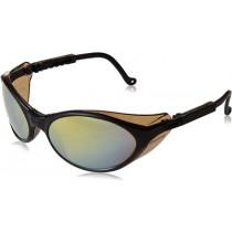 Uvex® Bandit™ Safety Glasses, Black Frame, Gold Mirror Lens, Ultra-Dura Anti-Scratch Coating