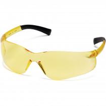 Pyramex® Ztek® Safety Glasses, Wrap-Around Scratch-Resistant Amber Lens