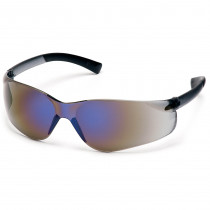 Pyramex® Ztek® Safety Glasses, Wrap-Around Scratch-Resistant Blue Mirror Lens
