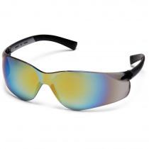 Pyramex® Ztek® Safety Glasses, Wrap-Around Scratch-Resistant Gold Mirror Lens