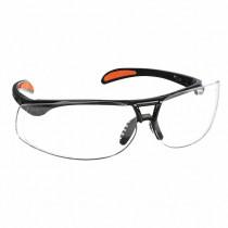 Uvex® Protege® Safety Glasses, Black Frame, Clear HydroShield Anti-Fog Lens