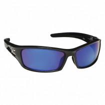 Edge Eyewear® Reclus (SR118) Safety Glasses, Black Frame, Blue Mirror Lens